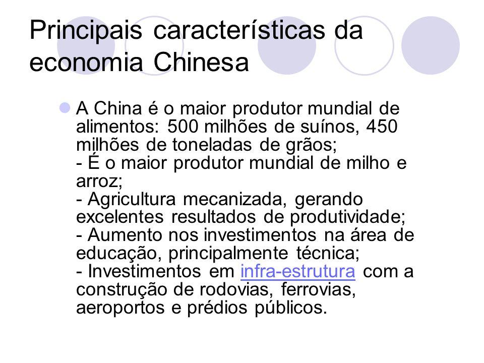 Principais características da economia Chinesa