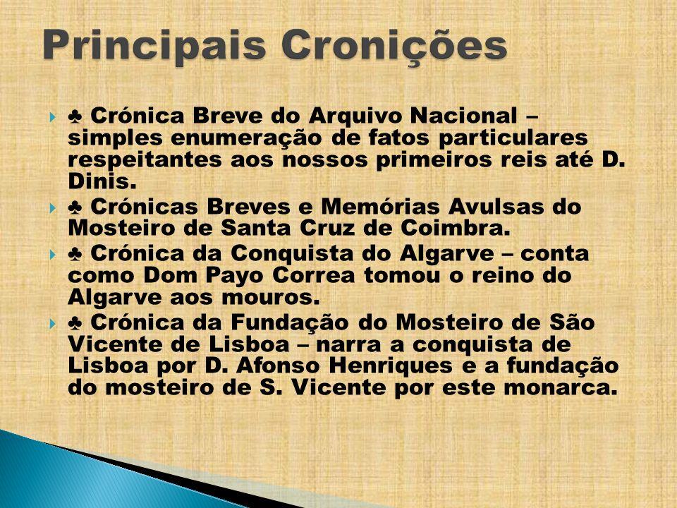 Principais Cronições