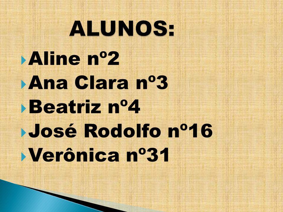 ALUNOS: Aline nº2 Ana Clara nº3 Beatriz nº4 José Rodolfo nº16
