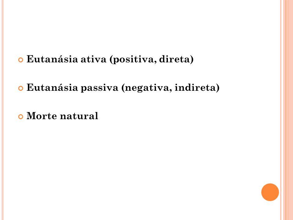 Eutanásia ativa (positiva, direta)
