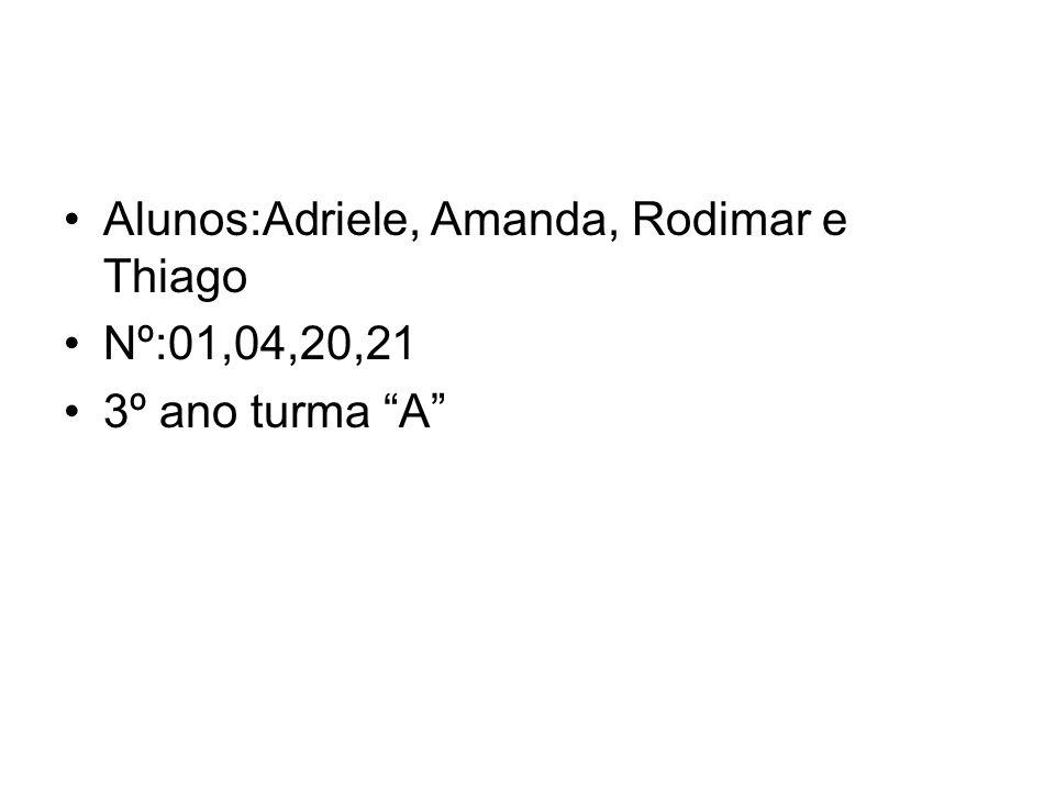 Alunos:Adriele, Amanda, Rodimar e Thiago