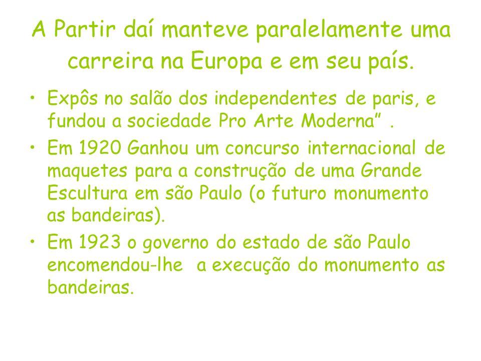 A Partir daí manteve paralelamente uma carreira na Europa e em seu país.
