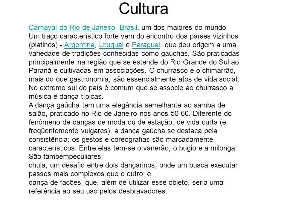Cultura Carnaval do Rio de Janeiro, Brasil, um dos maiores do mundo