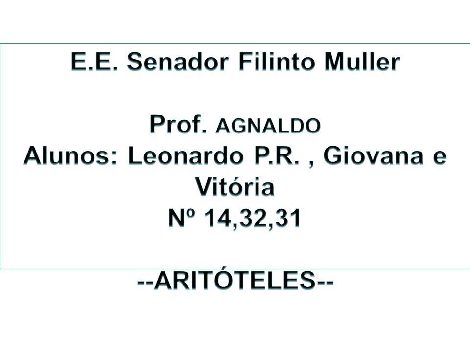 E.E. Senador Filinto Muller Alunos: Leonardo P.R. , Giovana e Vitória