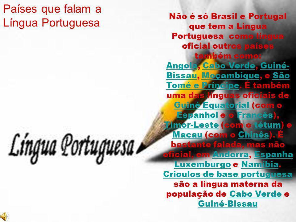 Países que falam a Língua Portuguesa