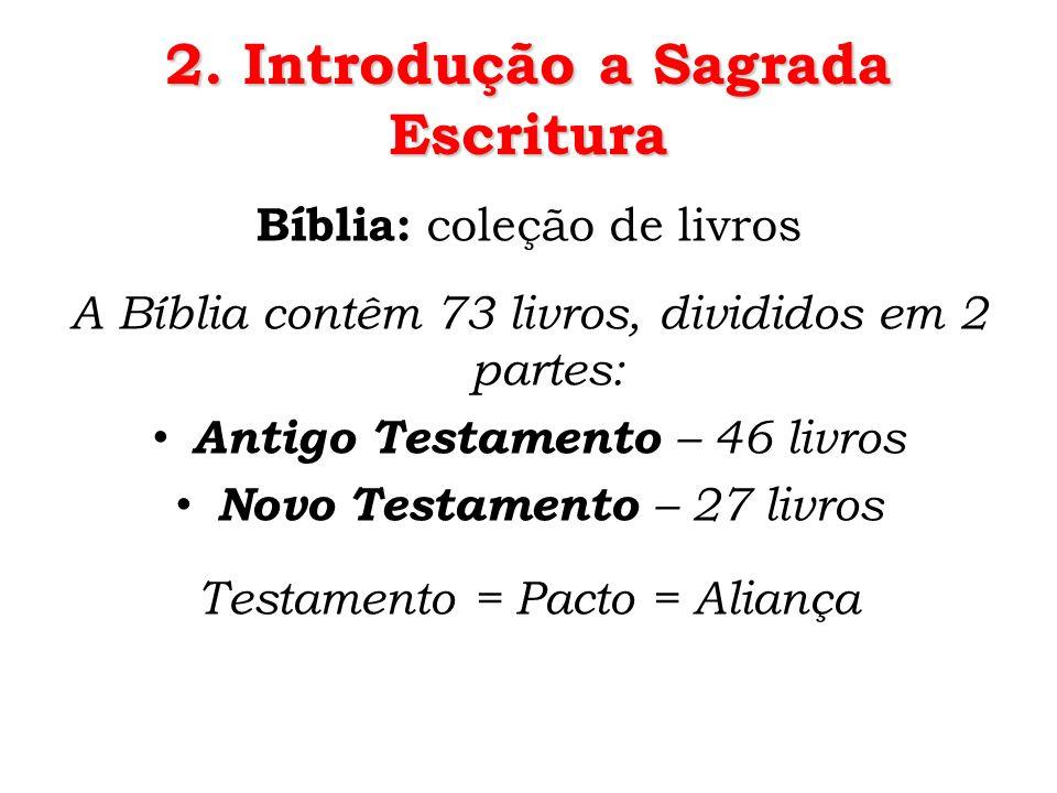 2. Introdução a Sagrada Escritura