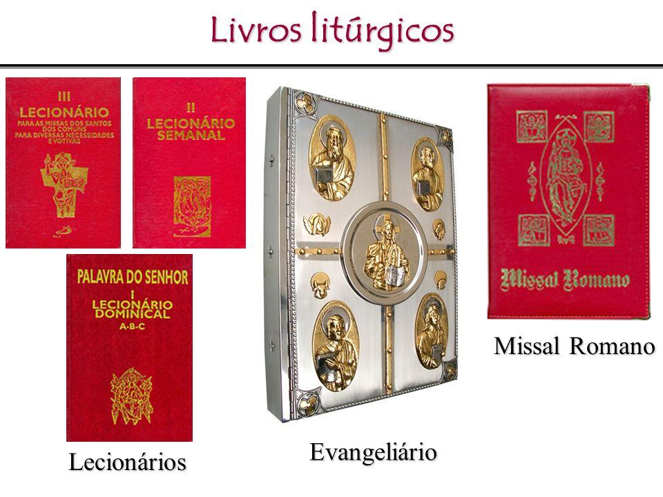 Livros litúrgicos Missal Romano Evangeliário Lecionários