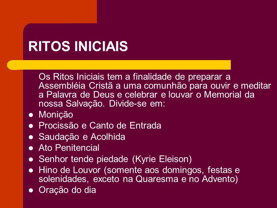 RITOS INICIAIS