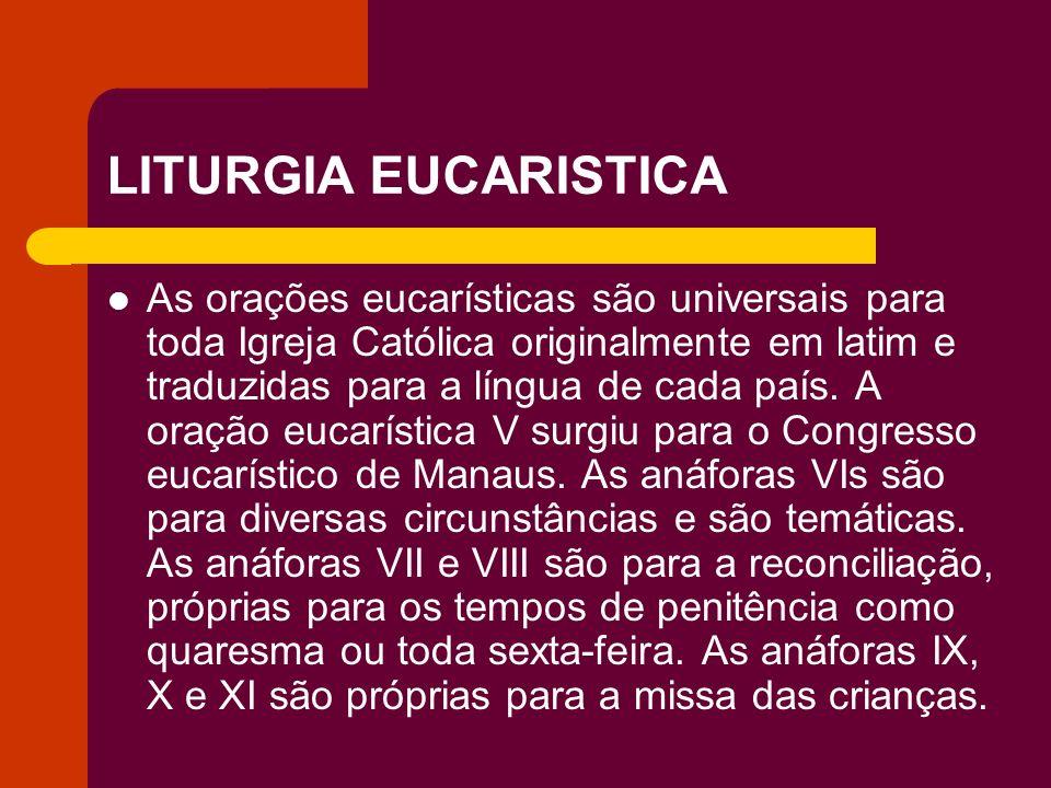 LITURGIA EUCARISTICA