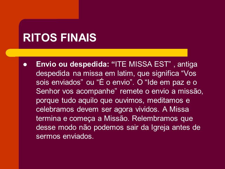RITOS FINAIS