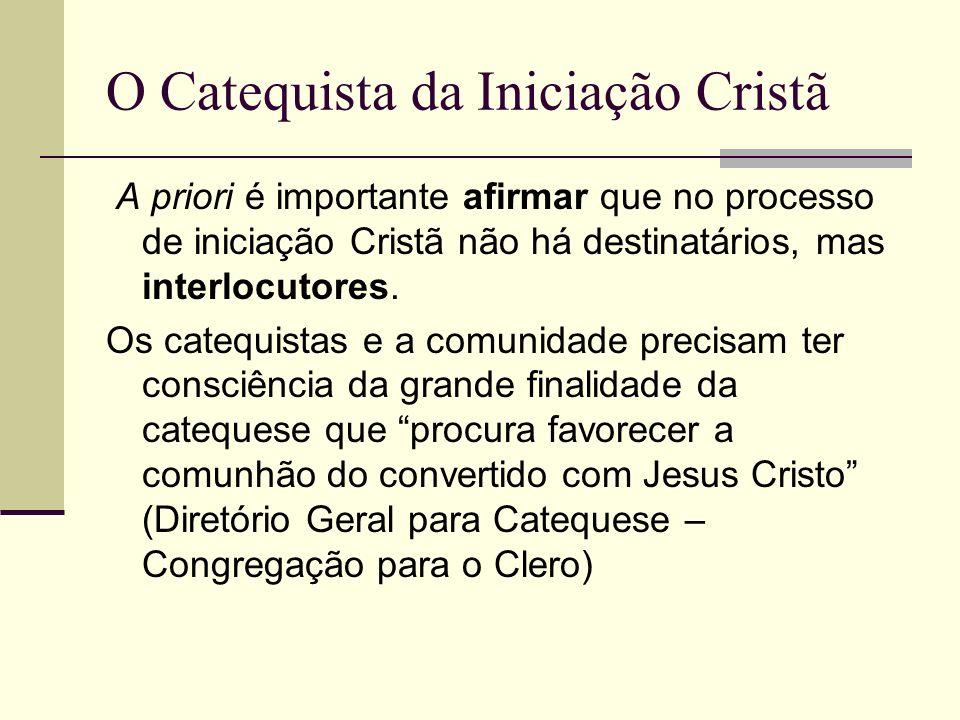 O Catequista da Iniciação Cristã