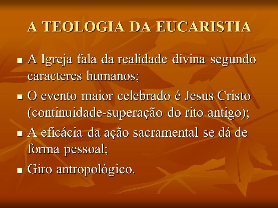 A TEOLOGIA DA EUCARISTIA