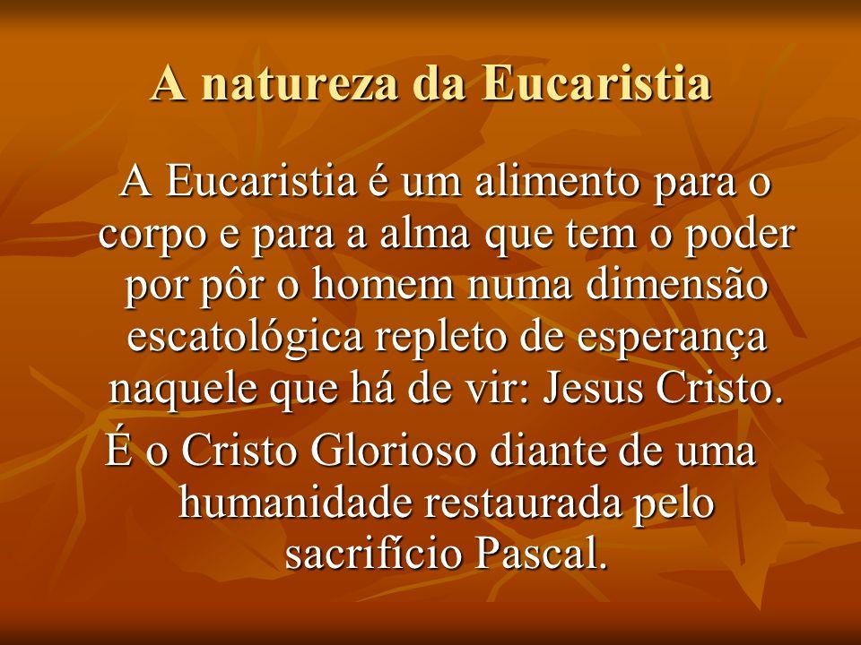 A natureza da Eucaristia