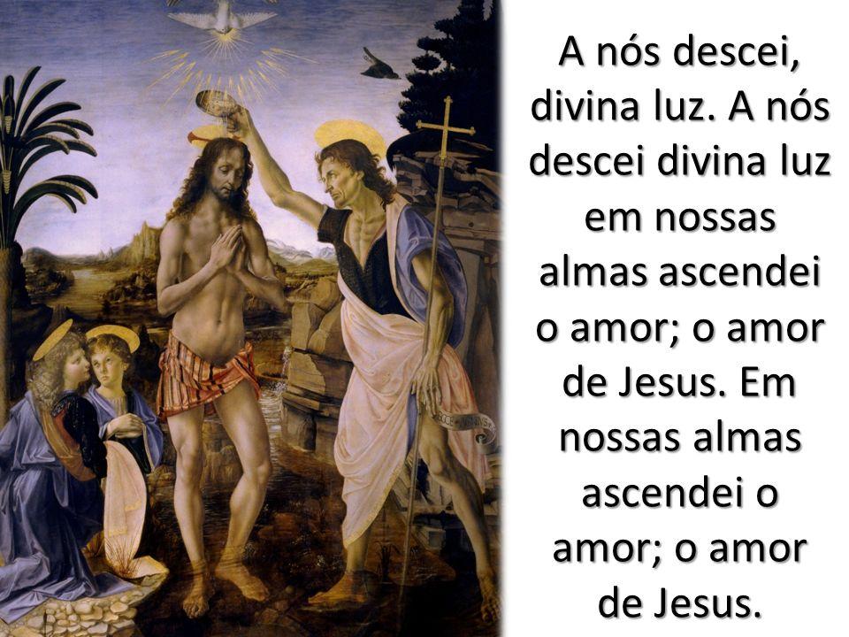 A nós descei, divina luz. A nós descei divina luz em nossas almas ascendei o amor; o amor de Jesus.