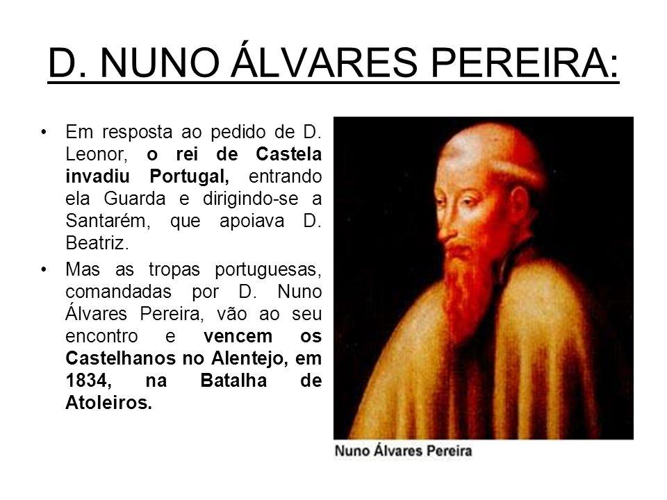 D. NUNO ÁLVARES PEREIRA: