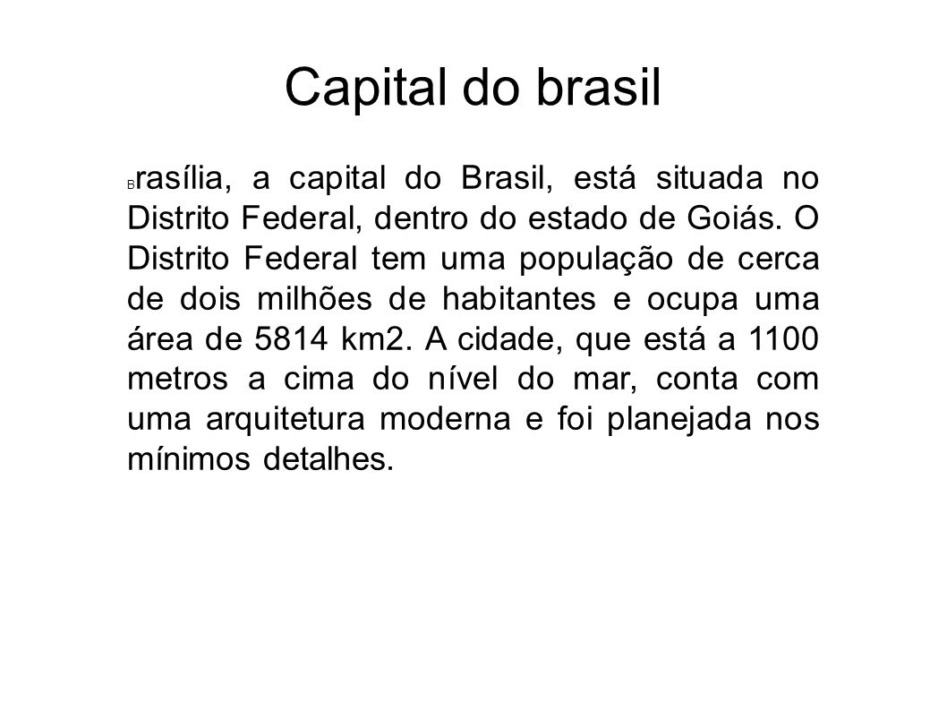 Capital do brasil