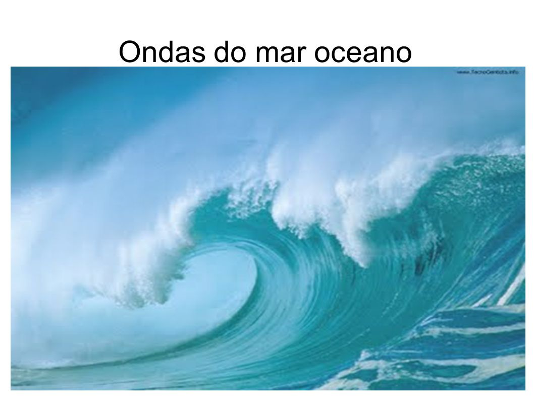 Ondas do mar oceano