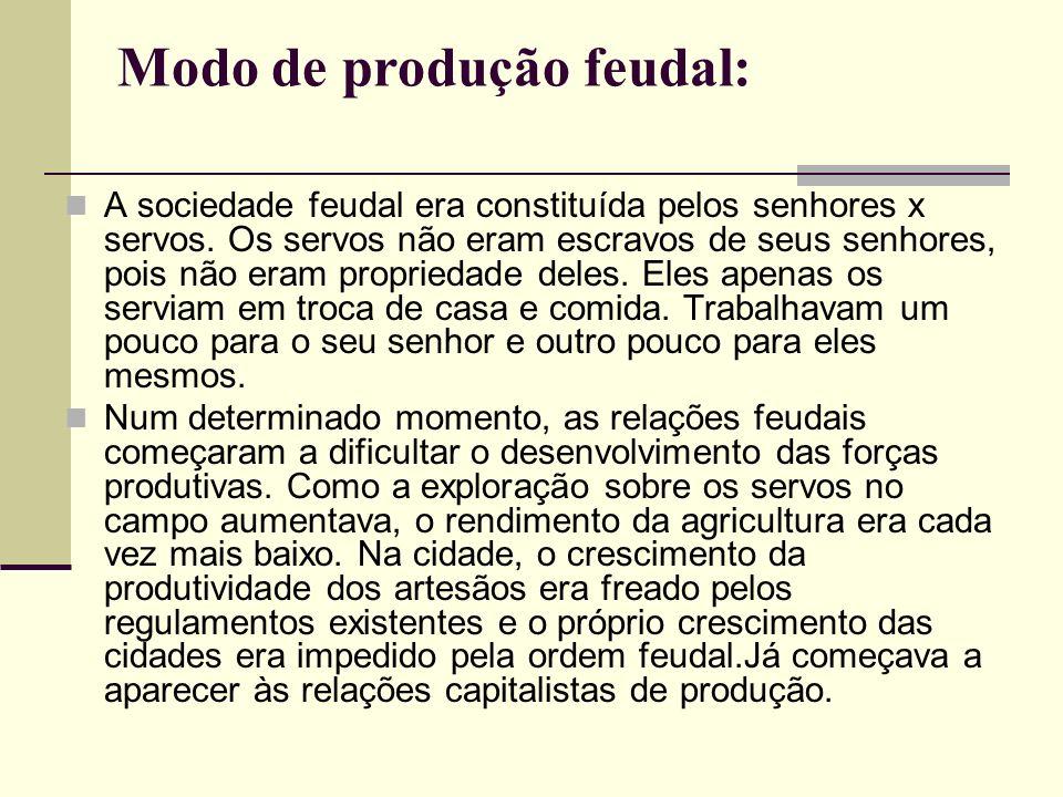 Modo de produção feudal: