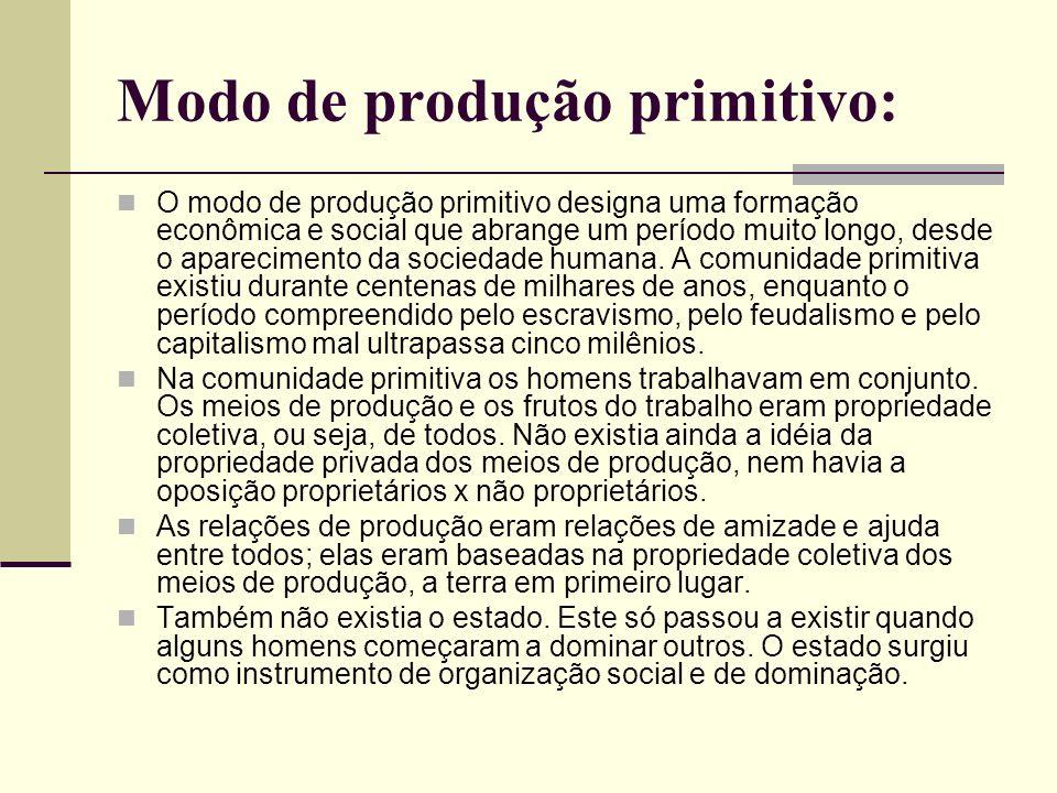 Modo de produção primitivo: