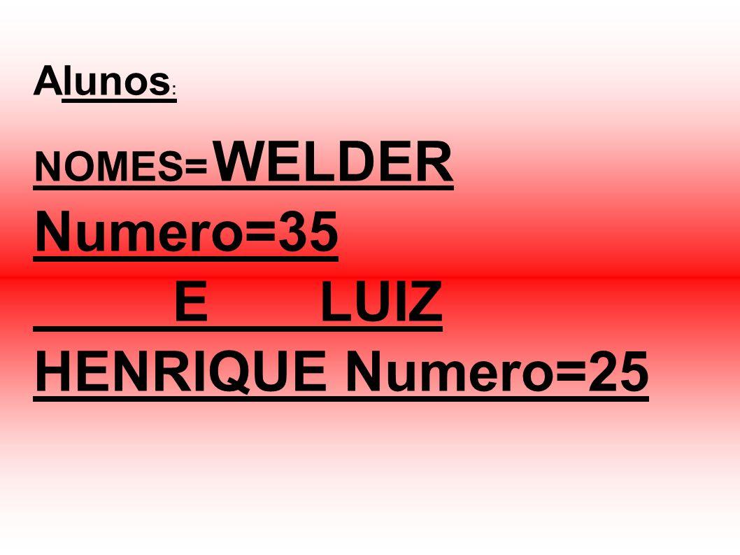 E LUIZ HENRIQUE Numero=25