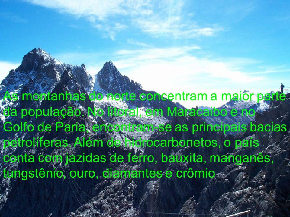 As montanhas do norte concentram a maior parte da população