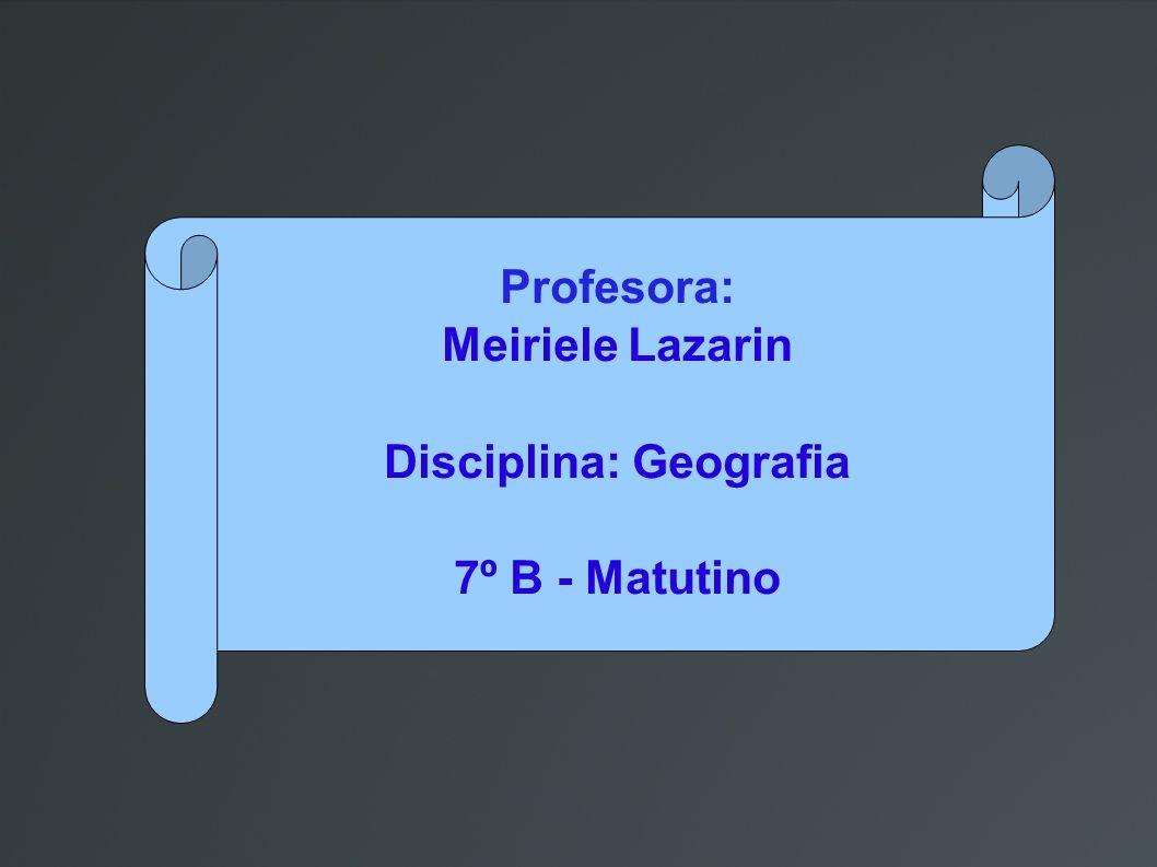 Disciplina: Geografia