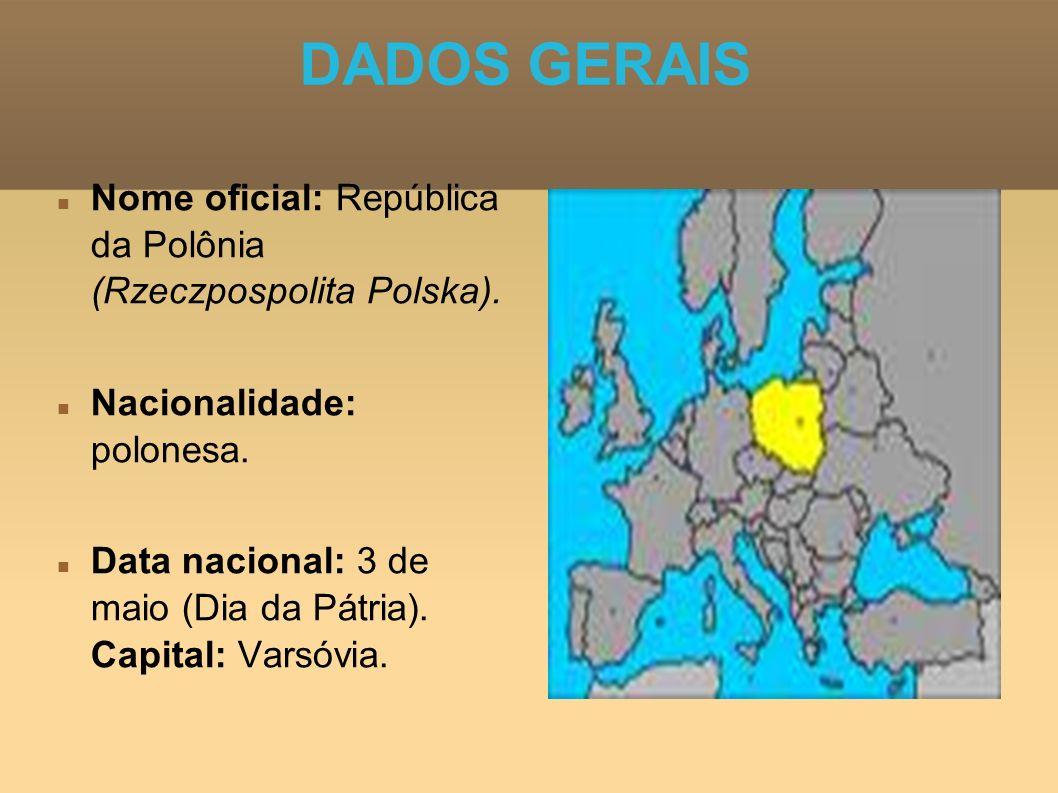 DADOS GERAIS Nome oficial: República da Polônia (Rzeczpospolita Polska). Nacionalidade: polonesa.