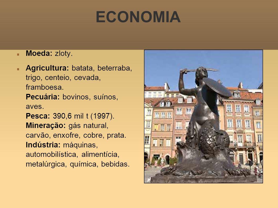 ECONOMIA Moeda: zloty.