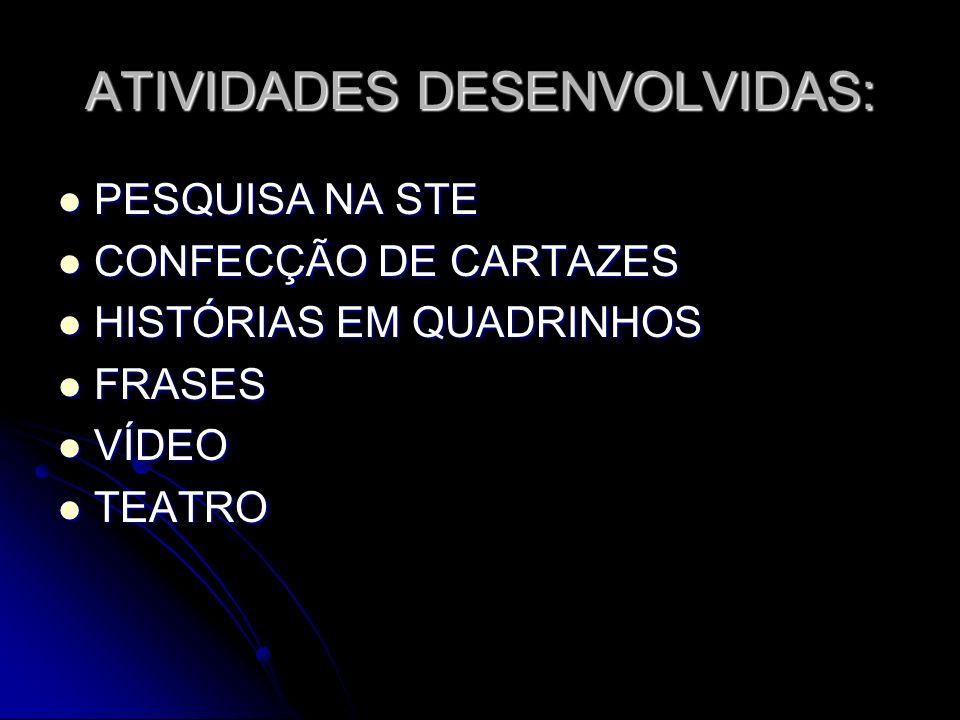ATIVIDADES DESENVOLVIDAS: