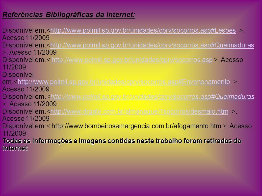 Referências Bibliográficas da internet: