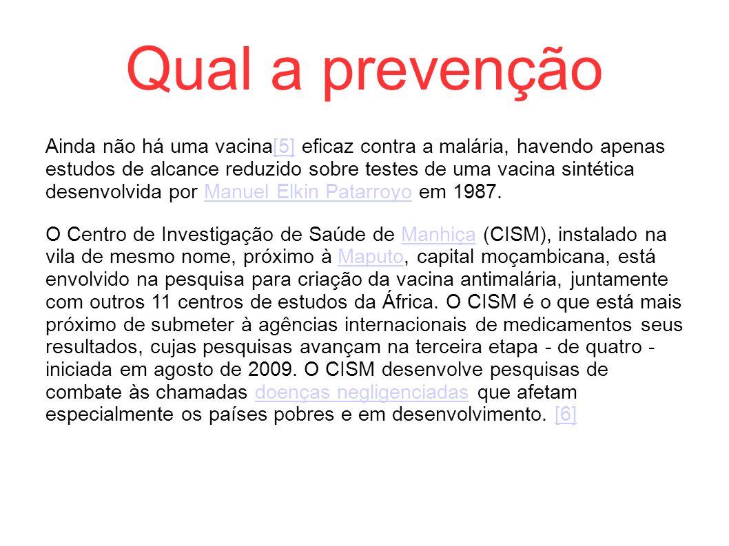 Qual a prevenção