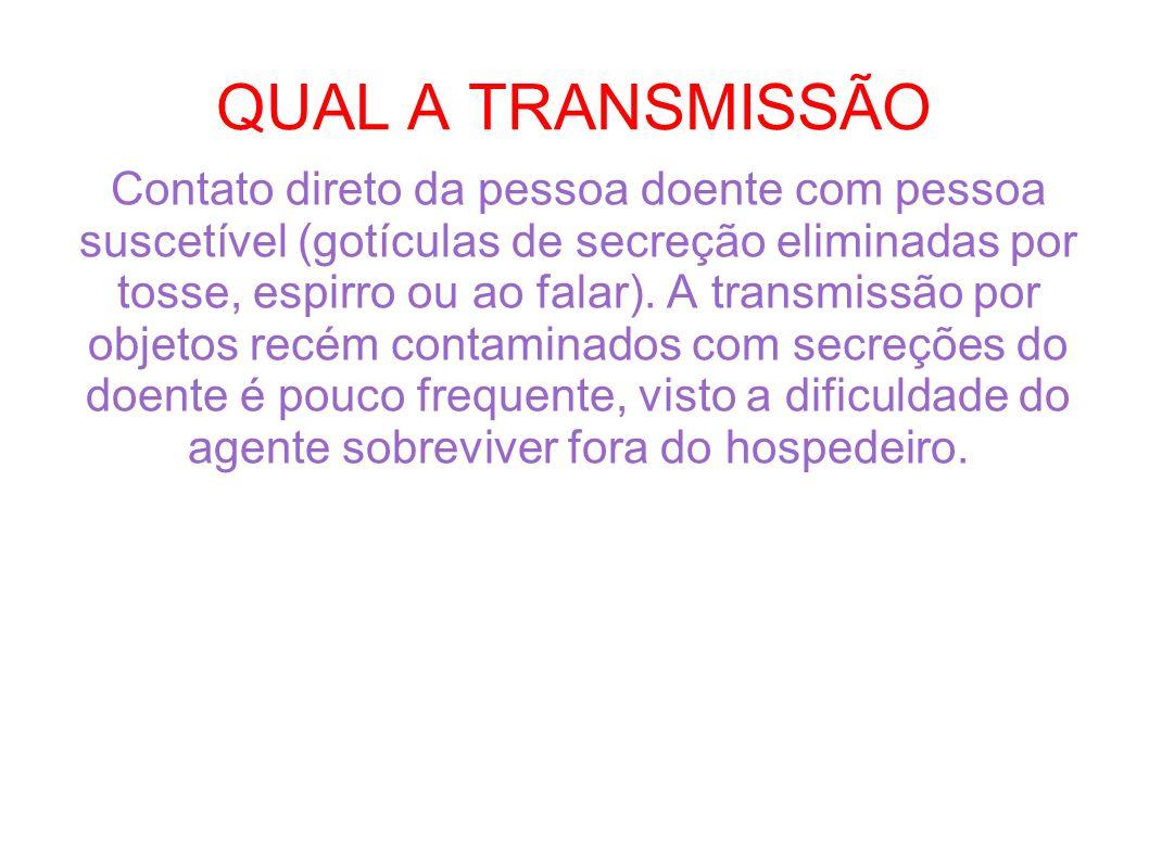 QUAL A TRANSMISSÃO