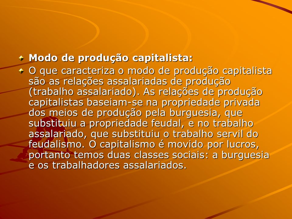 Modo de produção capitalista: