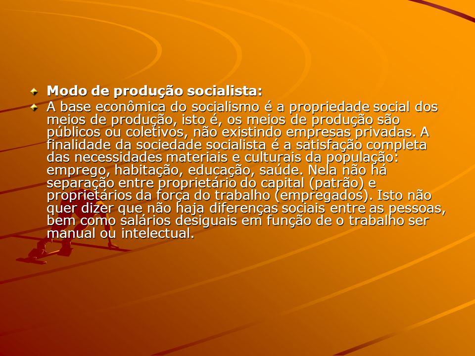Modo de produção socialista: