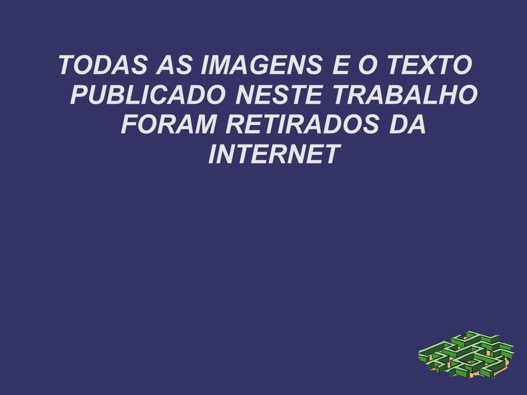 TODAS AS IMAGENS E O TEXTO PUBLICADO NESTE TRABALHO FORAM RETIRADOS DA INTERNET