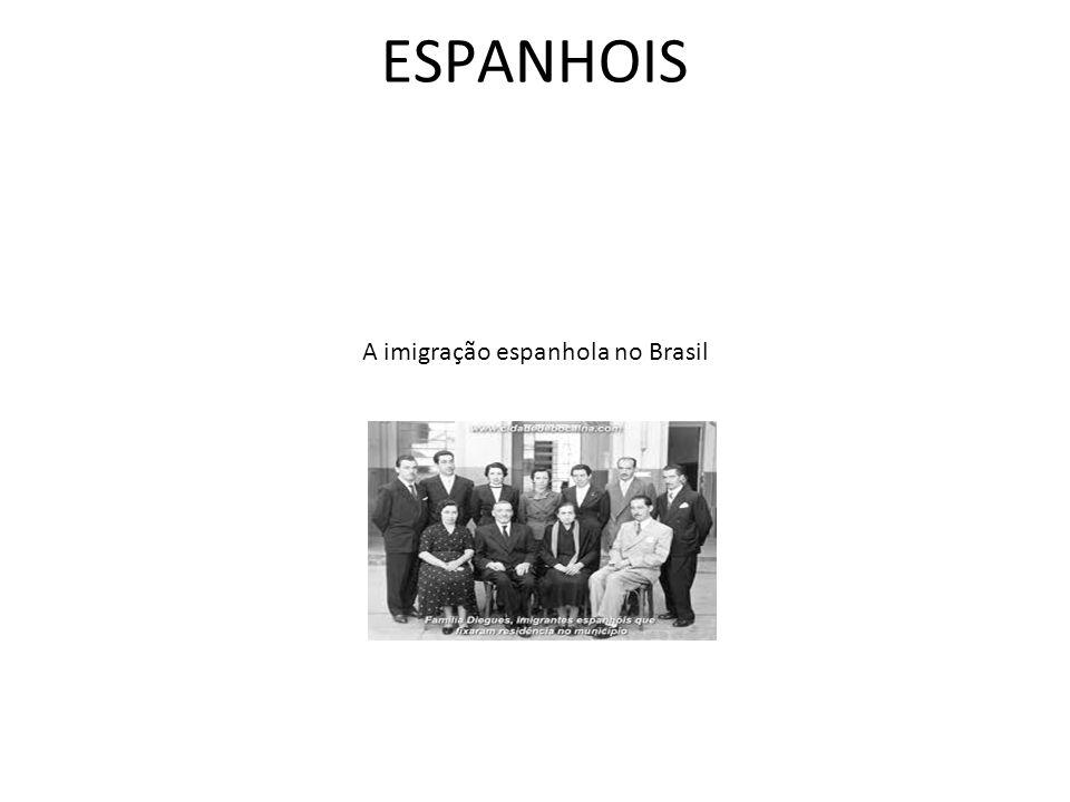 A imigração espanhola no Brasil