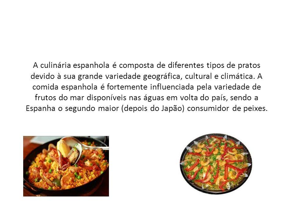 A culinária espanhola é composta de diferentes tipos de pratos devido à sua grande variedade geográfica, cultural e climática.