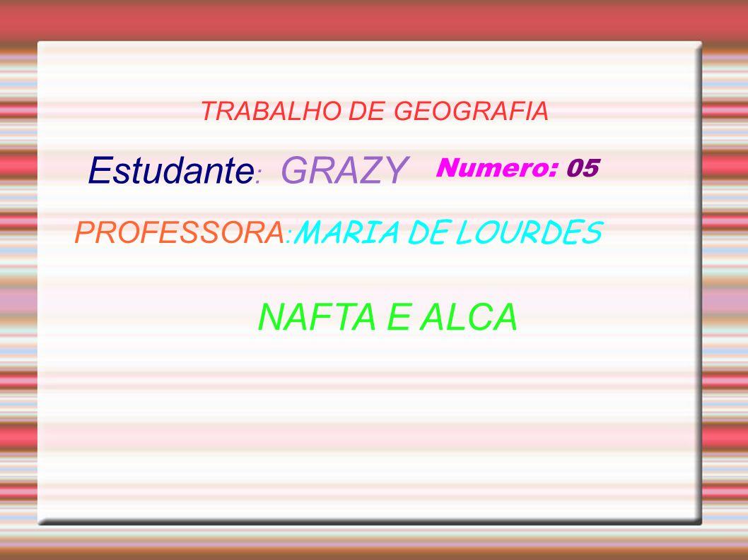 Estudante: GRAZY NAFTA E ALCA PROFESSORA:MARIA DE LOURDES