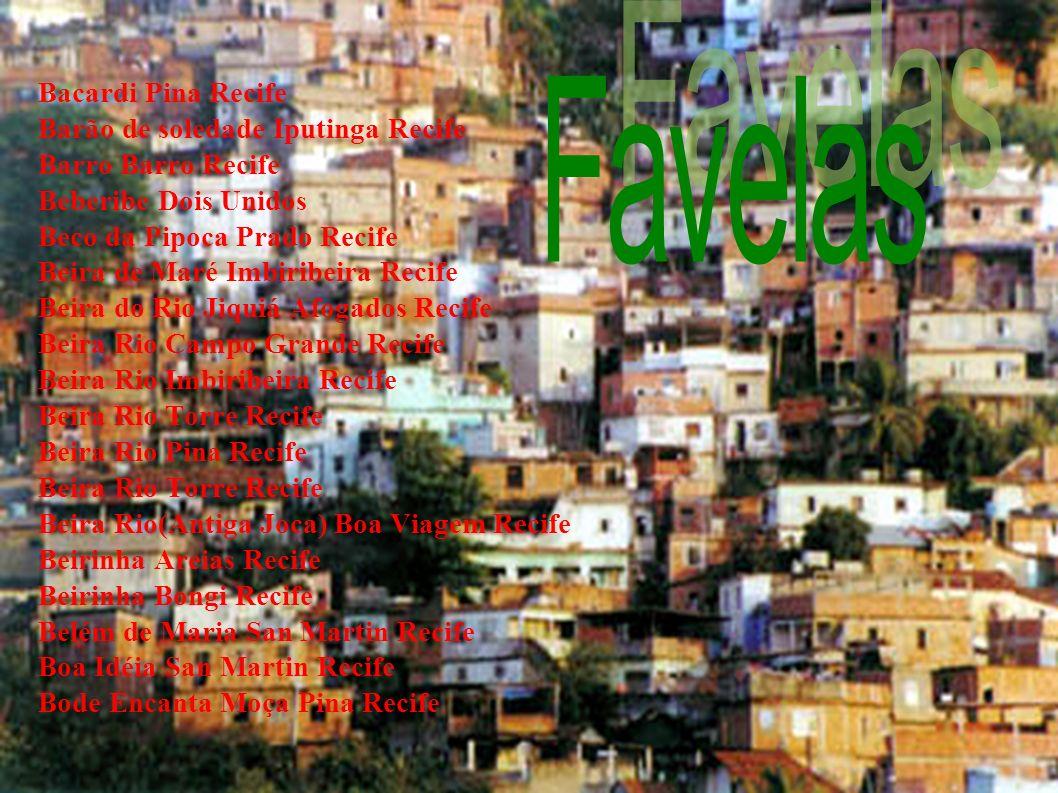 Favelas Bacardi Pina Recife Barão de soledade Iputinga Recife