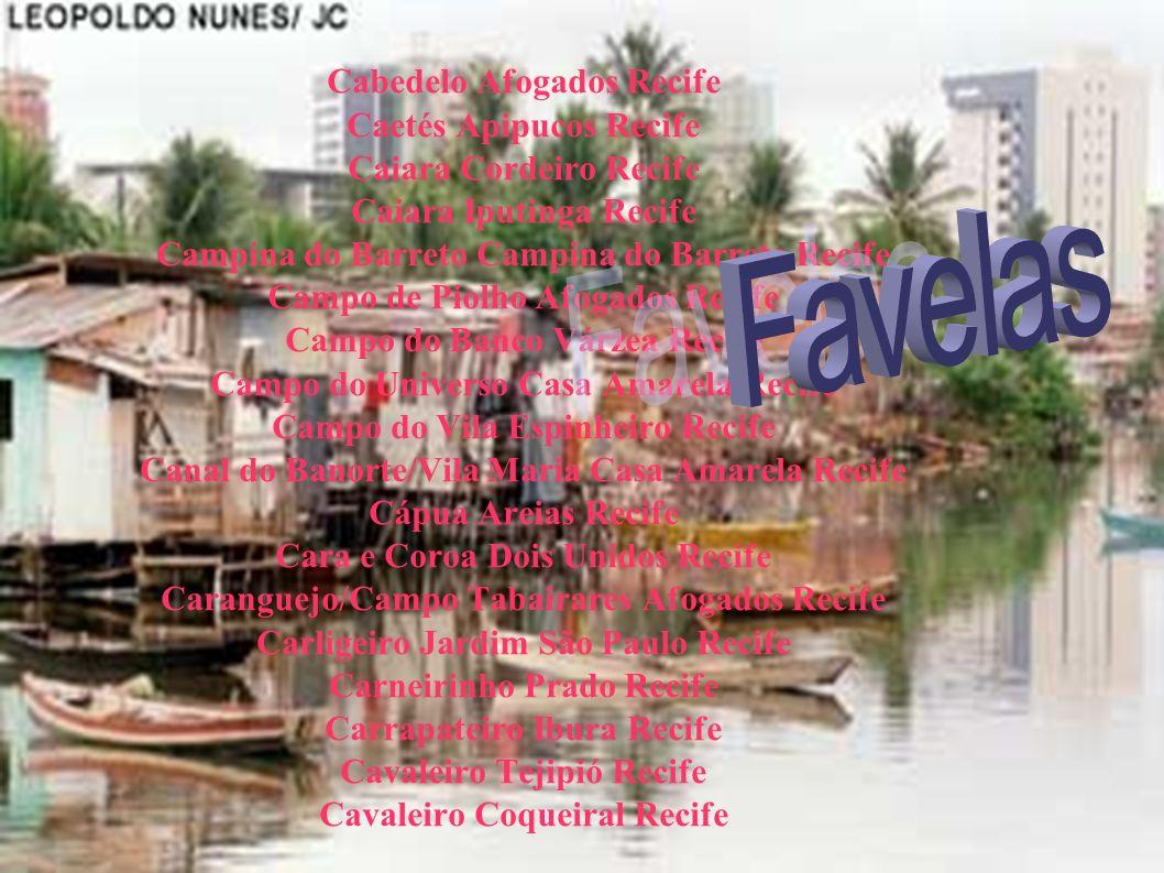 Favelas Cabedelo Afogados Recife Caetés Apipucos Recife