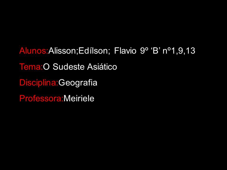 Alunos:Alisson;Edílson; Flavio 9º 'B' nº1,9,13