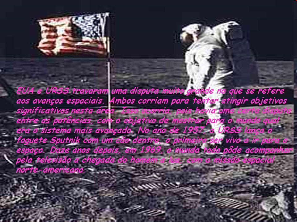 EUA e URSS travaram uma disputa muito grande no que se refere aos avanços espaciais.