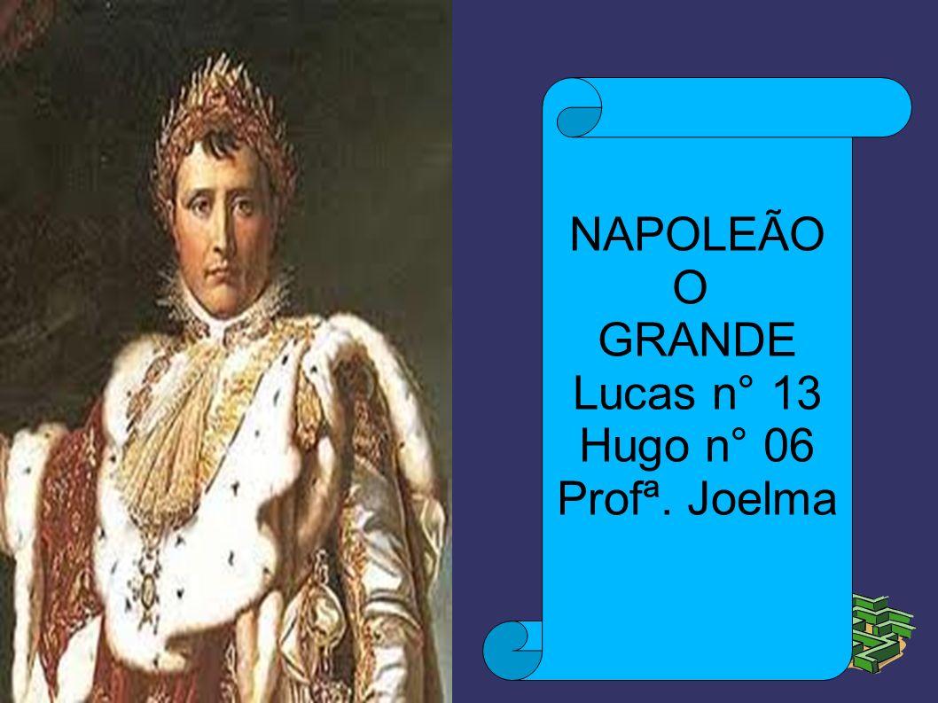 NAPOLEÃO O GRANDE Lucas n° 13 Hugo n° 06 Profª. Joelma