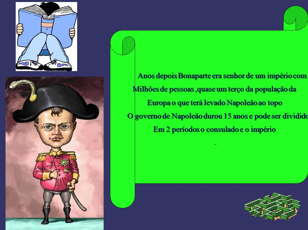 Anos depois Bonaparte era senhor de um império com