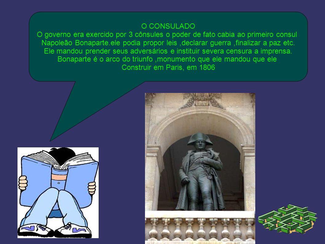 Bonaparte é o arco do triunfo ,monumento que ele mandou que ele