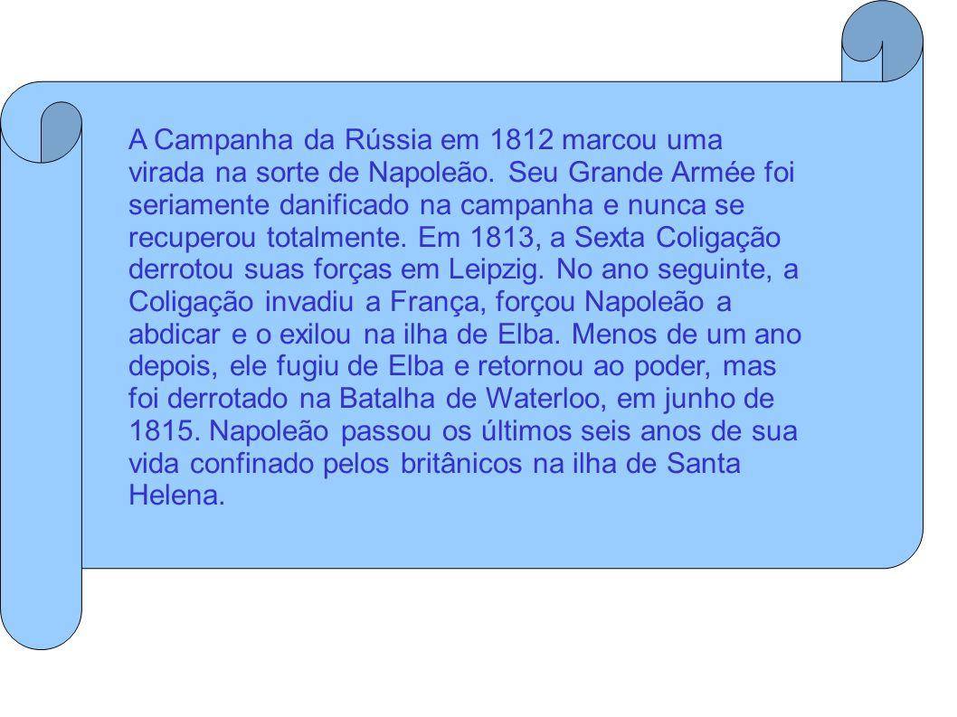 A Campanha da Rússia em 1812 marcou uma virada na sorte de Napoleão