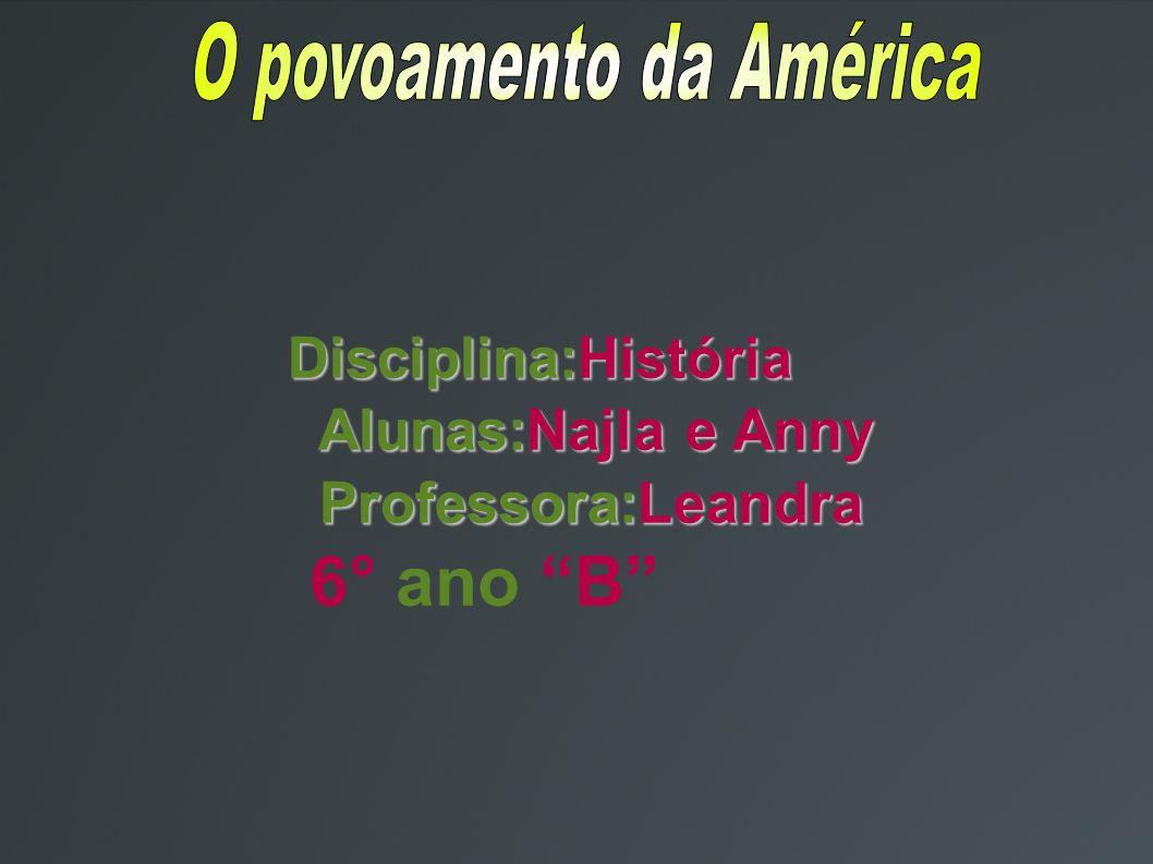O povoamento da América