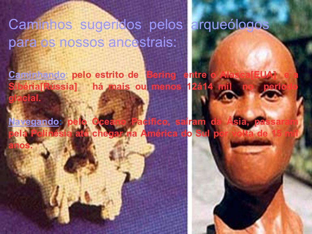Caminhos sugeridos pelos arqueólogos para os nossos ancestrais: