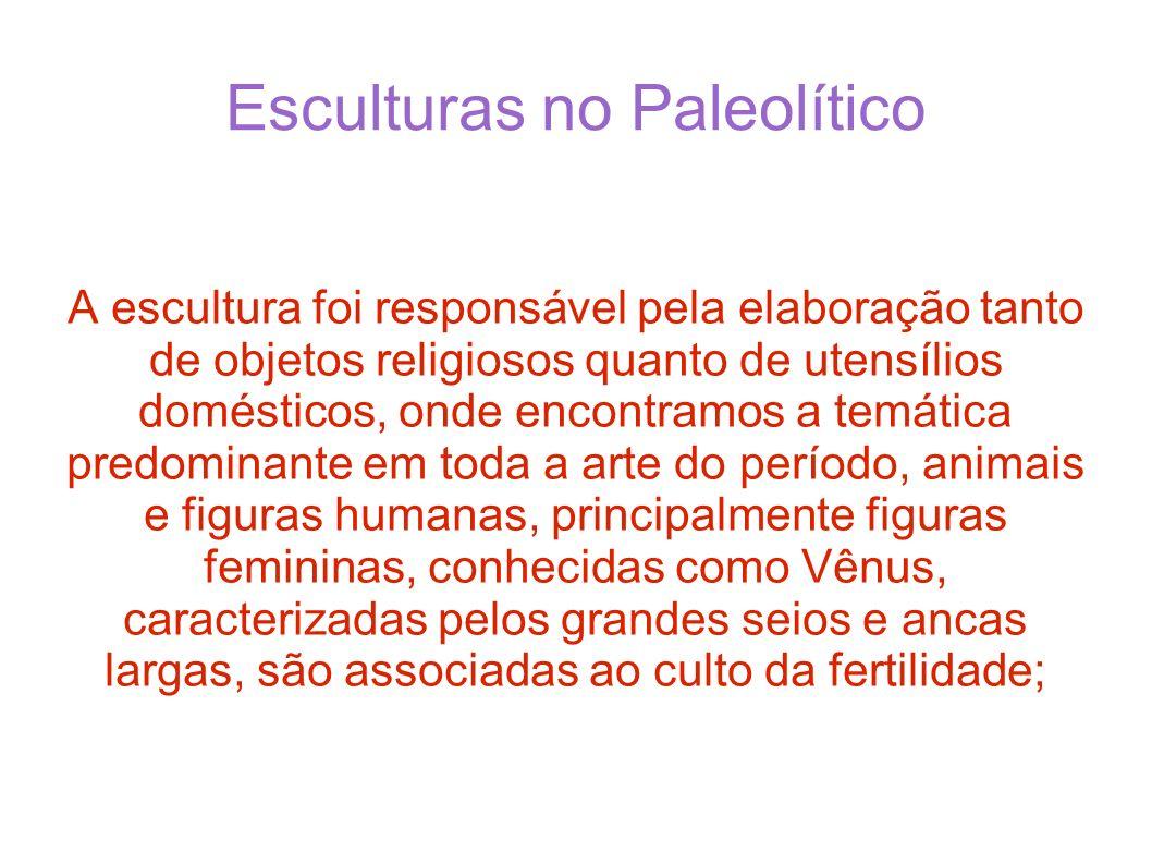 Esculturas no Paleolítico