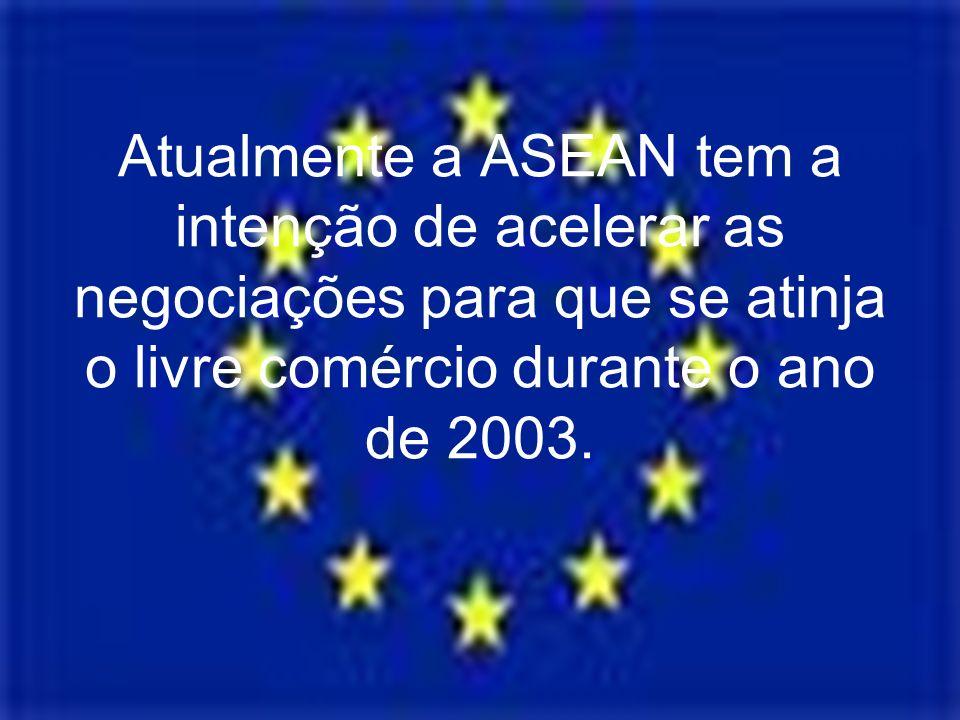 Atualmente a ASEAN tem a intenção de acelerar as negociações para que se atinja o livre comércio durante o ano de 2003.
